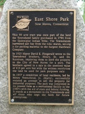 East Shore Park Marker Photo, Click for full size