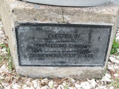 Marker at the Base of a Flagpole image. Click for full size.