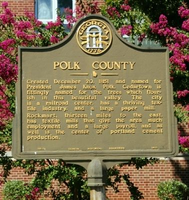 Polk County Marker image. Click for full size.
