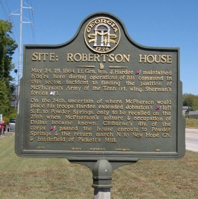 Site: Robertson House Marker image. Click for full size.
