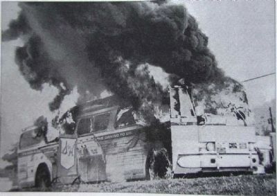 Freedom Rider's Burning Bus Photo, Click for full size