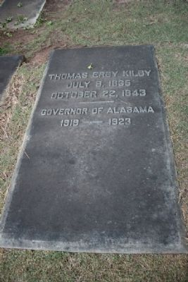 Governor Thomas E. Kilby Grave Site image. Click for full size.