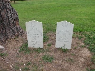 Tombstones at Lagrange College image. Click for full size.