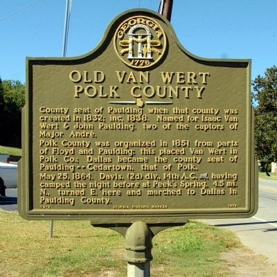 Old Van Wert Polk County Marker image. Click for full size.