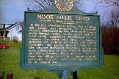 Moorefield, Ohio Marker image. Click for full size.