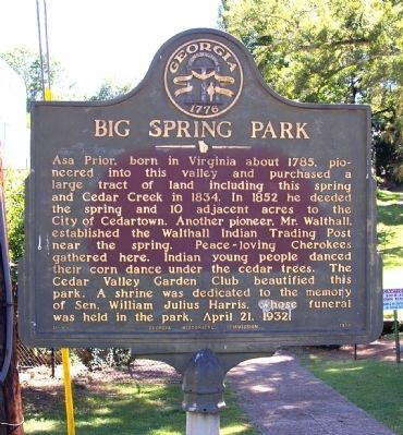 Big Spring Park Marker image. Click for full size.