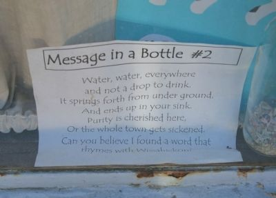 SIgn in Window of Water Works Woman's Building image. Click for full size.