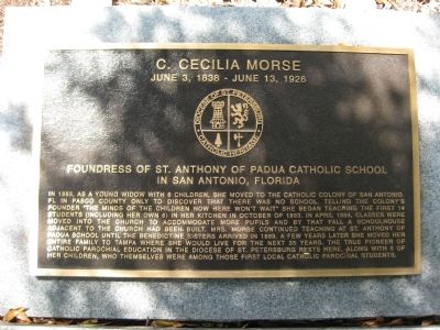 C. Cecilia Morse Marker Photo, Click for full size