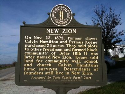 New Zion Marker Photo, Click for full size