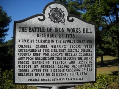 The Battle of Iron Works Hill Marker image. Click for full size.