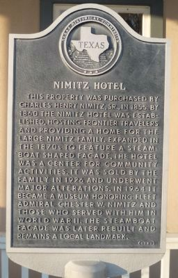 Nimitz Hotel Marker image. Click for full size.