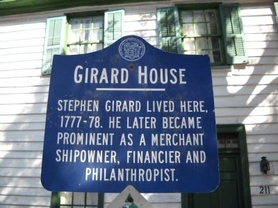 Girard House Marker image. Click for full size.
