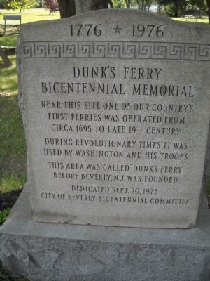 Dunk�s Ferry Bicentennial Memorial Marker Photo, Click for full size