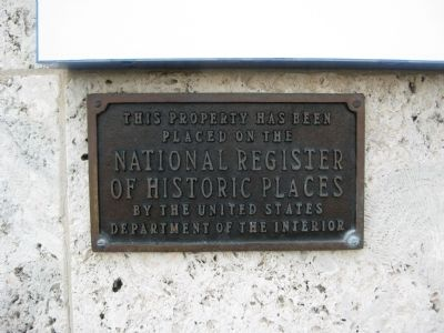United States Post Office NRHP Plaque image. Click for full size.