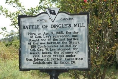 Battle of Dingle's Mill Marker image. Click for full size.