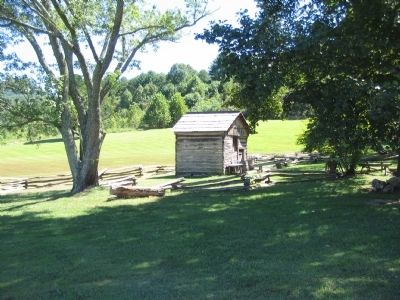 Reconstructed Settler's Cabin image. Click for full size.