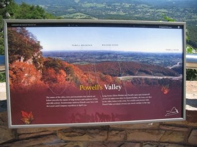 Powell's Valley Marker image. Click for full size.