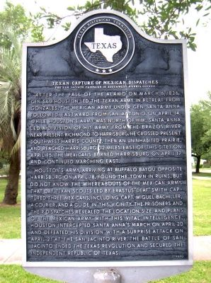 Texan Capture of Mexican Dispatches Marker image. Click for full size.