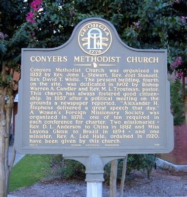 Conyers Methodist Church Marker image. Click for full size.
