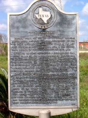 Civil War Fortifications at Virginia Point Marker Photo, Click for full size