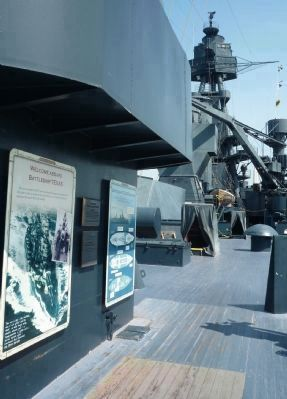 Quarterdeck of U.S.S. <i>Texas</i> - at the end the pedestrian bridge image. Click for full size.