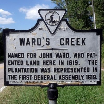 Ward's Creek Marker image. Click for full size.