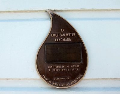 An American Water Landmark Marker image. Click for full size.