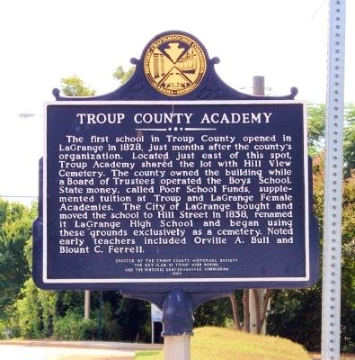 Troup County Academy Marker image. Click for full size.