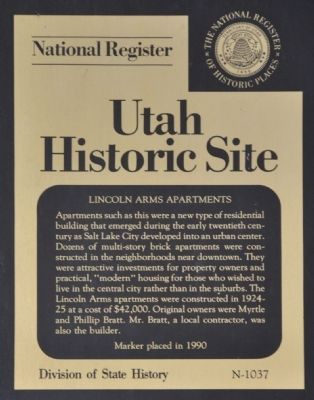 Lincoln Arms Apartments Marker image. Click for full size.