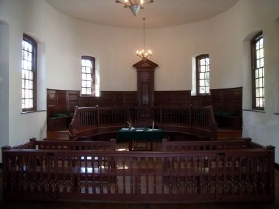 Old Isle of Wight Courthouse Interior image. Click for full size.