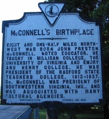 McConnell's Birthplace Marker image. Click for full size.