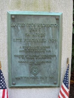 Southington Recreation Park Marker image. Click for full size.