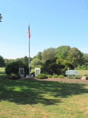 Monuments at the Entrance to Recreation Park, Town of Southington image. Click for full size.