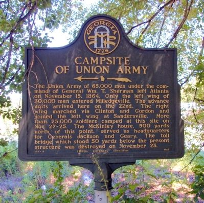 Campsite of Union Army Marker image. Click for full size.