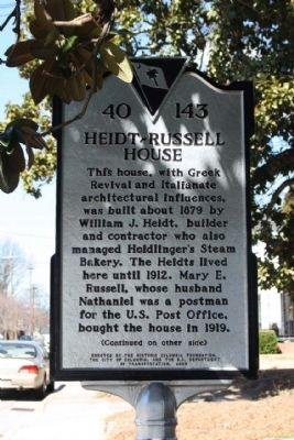 Heidt- Russell House Marker image. Click for full size.