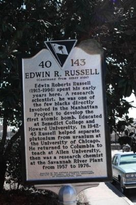Heidt- Russell House Marker, reverse side image. Click for full size.