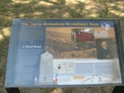 Washington – Rochambeau Revolutionary Route Marker Photo, Click for full size