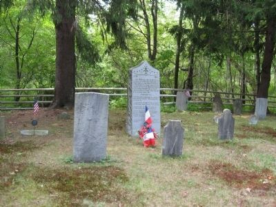 Memorial To Two French Soldiers Marker in the East Farms Cemetery image. Click for full size.