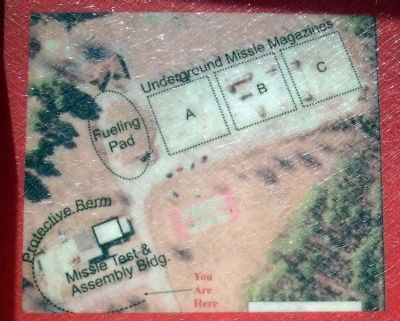 Aerial view of Nike-Ajax missile site N-75L image. Click for full size.