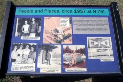 People and Places, circa 1957 at N-75L Marker image. Click for full size.