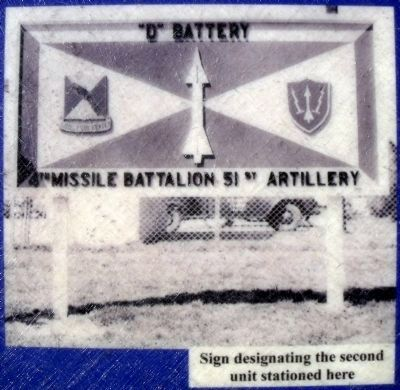 Sign designating the second unit stationed here image. Click for full size.