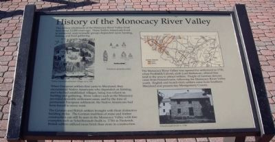 History of the Monocacy River Valley Marker Photo, Click for full size