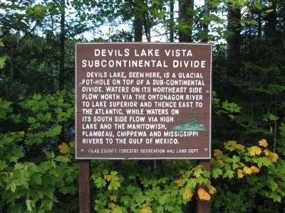 Devils Lake Vista Subcontinental Divide Marker image. Click for full size.