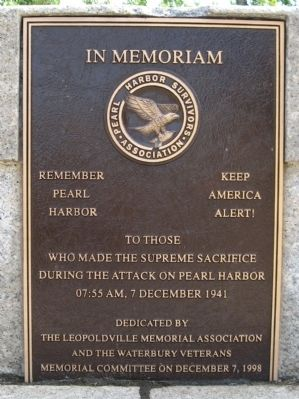 Pearl Harbor Memorial Bridge Marker image. Click for full size.