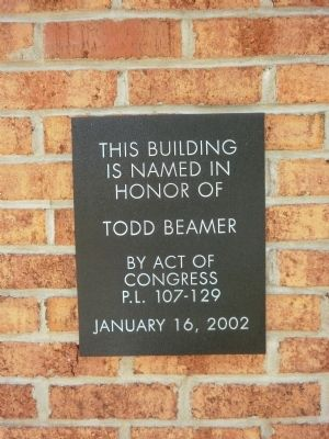 Todd Beamer Marker Photo, Click for full size