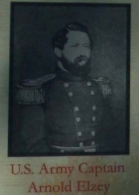 The Augusta Arsenal Marker Captain Arnold Elzey. image. Click for full size.