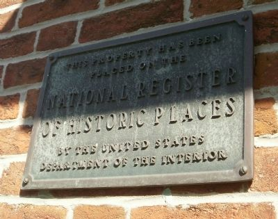 National Register of Historic Places on Crosswicks Quaker Meeting House image. Click for full size.