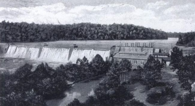 Portman Shoals Power Plant, Seneca River Photo, Click for full size