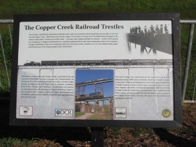 The Copper Creek Railroad Trestles Marker image. Click for full size.