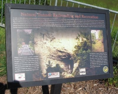 Natural Tunnel: Railroading and Recreation Marker image. Click for full size.